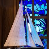 интерьер паба выдержан в лучших морских традициях